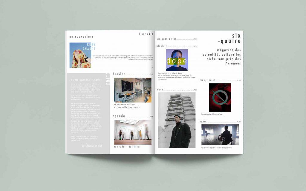 Six-quatre magazine, pages de sommaire
