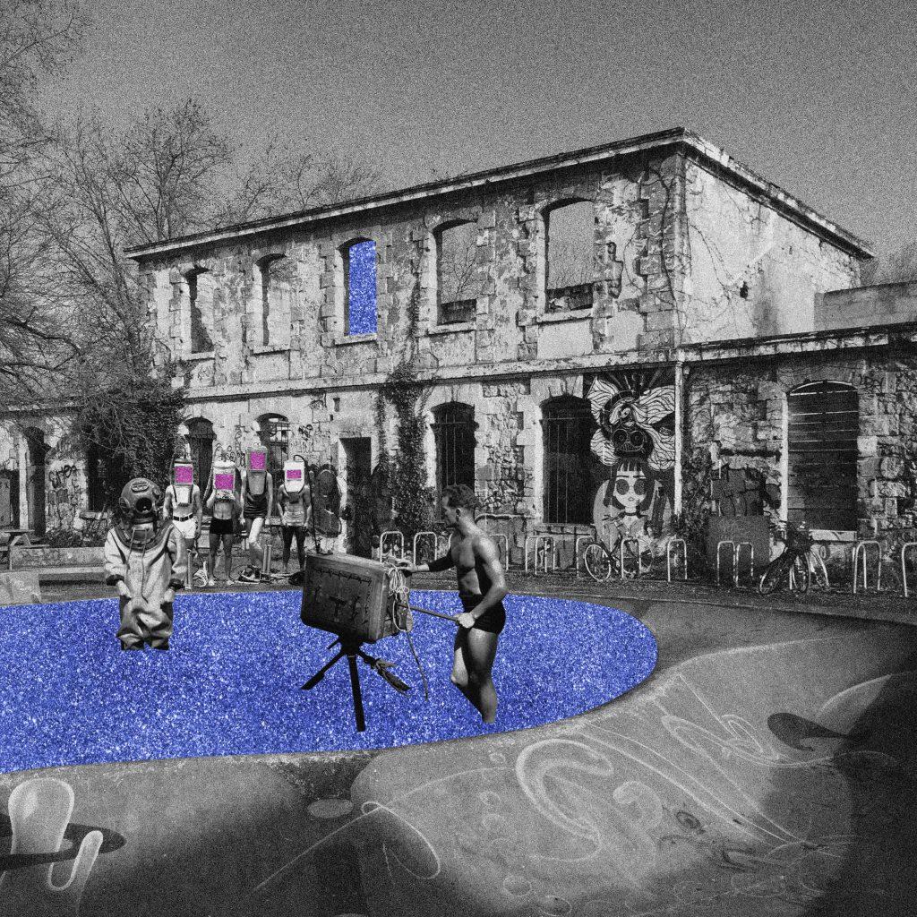 Collage digital, Darwin @Bordeaux