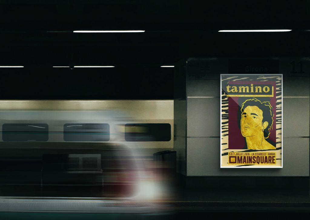 Affiche de Tamino pour l'appel à talents artistiques du Main Square Festival 2019