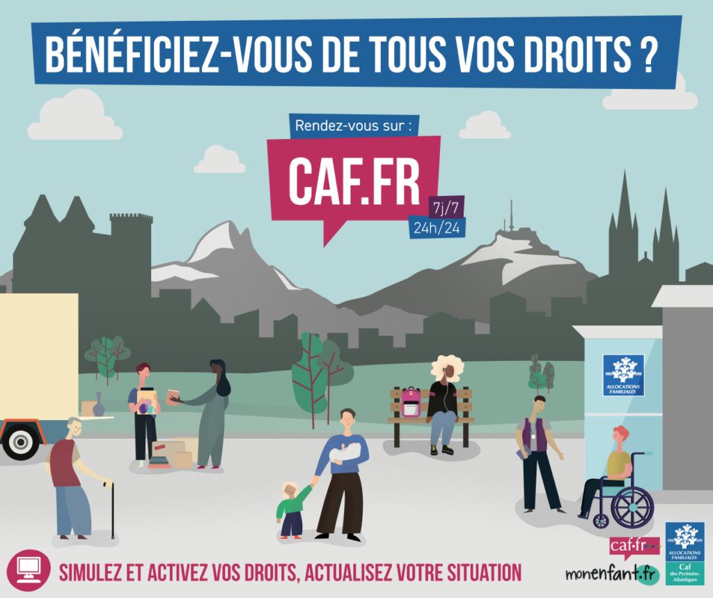 Visuel de campagne Accès aux droits caf.fr