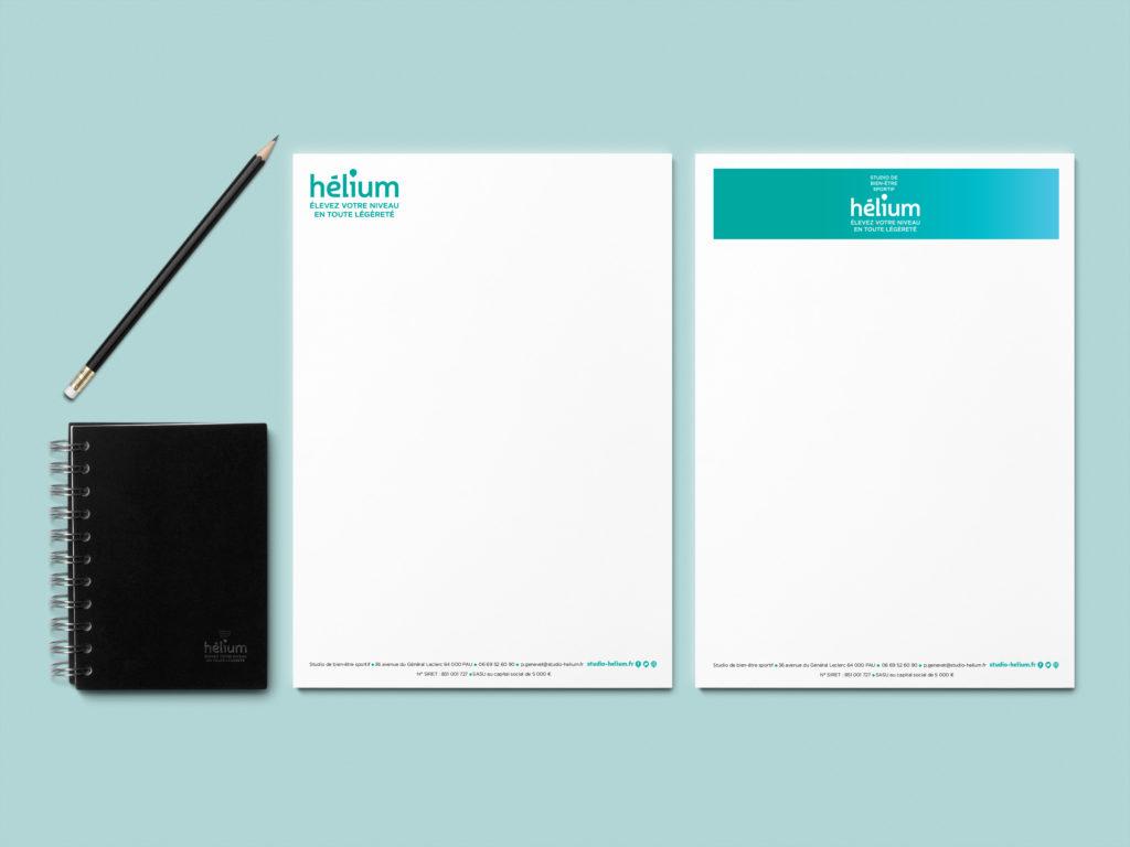 Papier à lettres Studio Hélium
